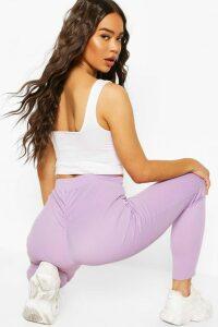 Womens Booty Enhancing Ribbed Legging - Purple - 16, Purple