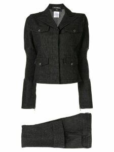 Chanel Pre-Owned 2003 denim blouse and jeans set - Black