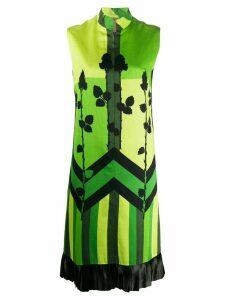 A.N.G.E.L.O. Vintage Cult 1960s colour block floral print dress -