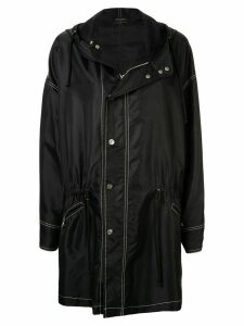 Chanel Pre-Owned CC button drawstring coat - Black