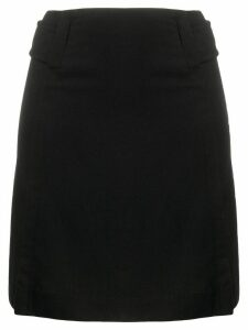 Chanel Pre-Owned high-rise straight-fit skirt - Black