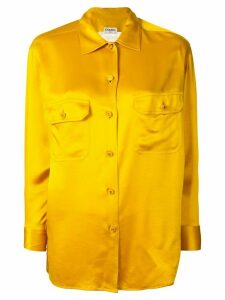 Chanel Pre-Owned CC logo long sleeve tops blouse shirt - Yellow
