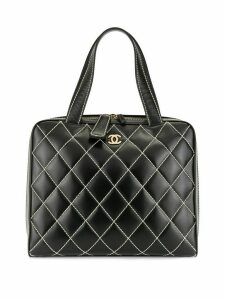 Chanel Pre-Owned 2002s wild stitch quilted hand tote bag - Black