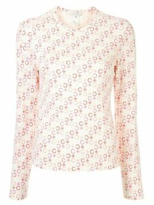 Céline Pre-Owned Macadam print long-sleeved T-shirt - White