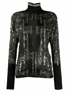 Gianfranco Ferré Pre-Owned 1990s stone-embellished sheer blouse -
