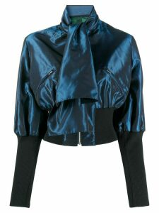 Jean Paul Gaultier Pre-Owned 1991 pussy bow zipped blouse - Blue