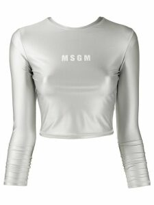 MSGM long-sleeved performance top - Grey