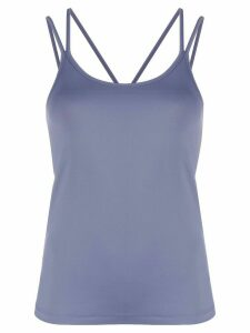 Filippa K Soft Sport layered multi-strap yoga top - Blue