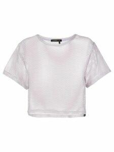 Koral open mesh cropped T-shirt - Grey