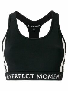 Perfect Moment printed logo fitness top - Black