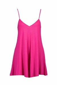 Womens Basic Jersey Swing Playsuit - Pink - 16, Pink