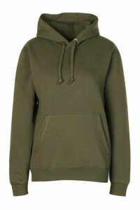 Womens Basic Oversized Hoodie - Green - Xxs, Green