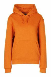 Womens Basic Oversized Hoodie - Orange - Xxs, Orange