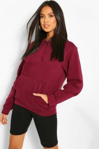 Womens Basic Oversized Hoodie - Purple - Xs, Purple