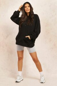 Womens Mix And Match Edition Longline Hoodie - Black - Xl, Black