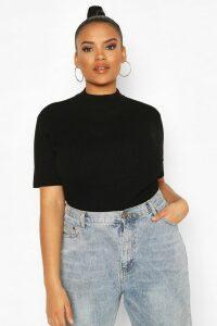 Womens Plus Soft Knit Jumper Top - Black - 24-26, Black