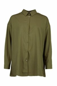 Womens Extreme Oversized Shirt - Green - 18, Green