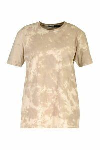 Womens Plus Acid Washed T-Shirt - Beige - 16-18, Beige