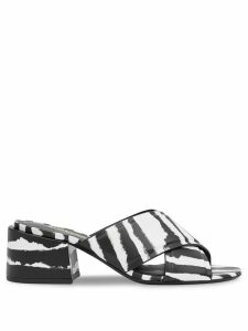 Burberry zebra print sandals - Black