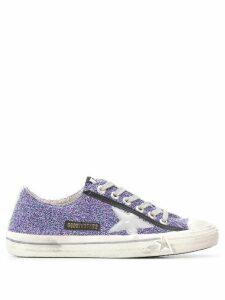 Golden Goose V-STAR glitter sneakers - PURPLE