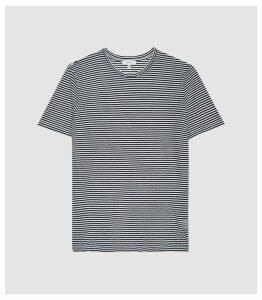 Reiss Surbiton - Striped Crew Neck T-shirt in Navy/white, Mens, Size XXL