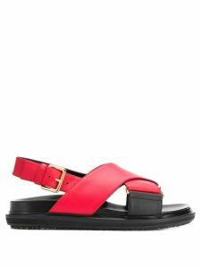Marni Fussbett cross-over strap sandals - Red