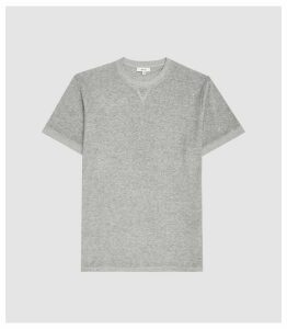 Reiss Terry - Terry Towelling Crew Neck T-shirt in Grey, Mens, Size XXL