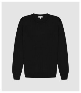 Reiss Wessex - Merino Wool Jumper in Black, Mens, Size XXL
