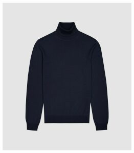 Reiss Caine - Merino Wool Rollneck in Navy, Mens, Size XXL