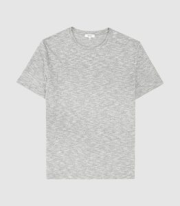 Reiss Ryan - Melange Cotton Blend T-shirt in Grey, Mens, Size XXL