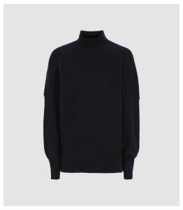 Reiss Sam - Roll Neck Jumper in Navy, Womens, Size XXL