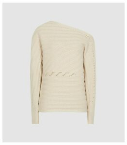 Reiss Coco - Off-the-shoulder Jumper in Camel, Womens, Size XXL