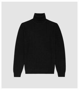 Reiss Ramble - Cashmere Rollneck Jumper in Black, Mens, Size XXL