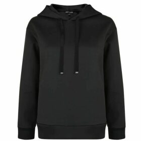 Emporio Armani Sequin Logo Hooded Sweatshirt