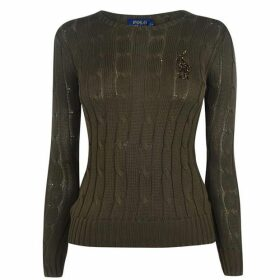 Polo Ralph Lauren Sequin Logo Knit Sweater
