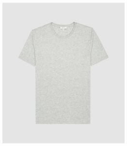 Reiss Bless - Regular Fit Crew Neck T-shirt in Grey Marl, Mens, Size XXL