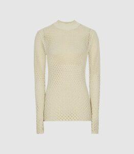 Reiss Roni - Open-knit Jumper in Neutral, Womens, Size XL
