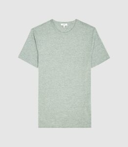 Reiss Williams - Cotton-blend Crew Neck T-shirt in Forest Green, Mens, Size XXL