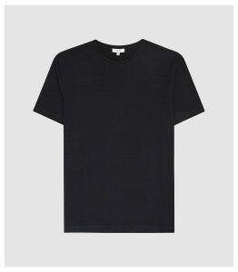 Reiss Gareth - Textured Crew Neck T-shirt in Navy, Mens, Size XXL