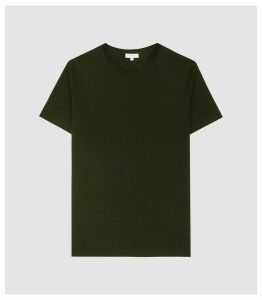 Reiss Bless - Regular Fit Crew Neck T-shirt in Oxidised Green, Mens, Size XXL