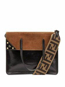 Fendi large Fendi Flip shoulder bag - Black