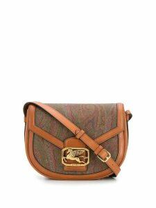 Etro Pegaso printed cross body bag - Brown