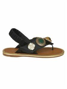 Miu Miu Backstrap Embellished Sandals