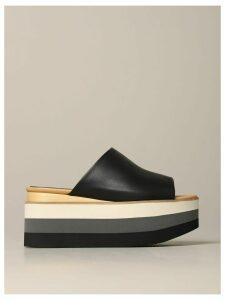 Paloma Barcelò Wedge Shoes Paloma Barcelò Daila Wedge Sandal In Leather