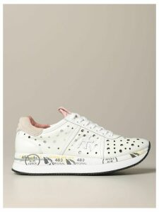 Premiata Sneakers Conny Premiata Sneakers In Perforated Leather