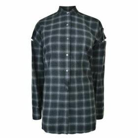 Helmut Lang Open Plaid Shirt