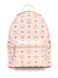 MCM Stark logo-print backpack - PINK