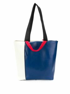 Plan C colour block tote bag - Blue