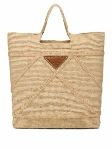 Prada raffia handbag - NEUTRALS