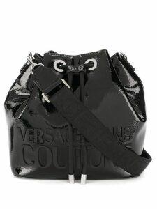 Versace Jeans Couture front logo bucket bag - Black